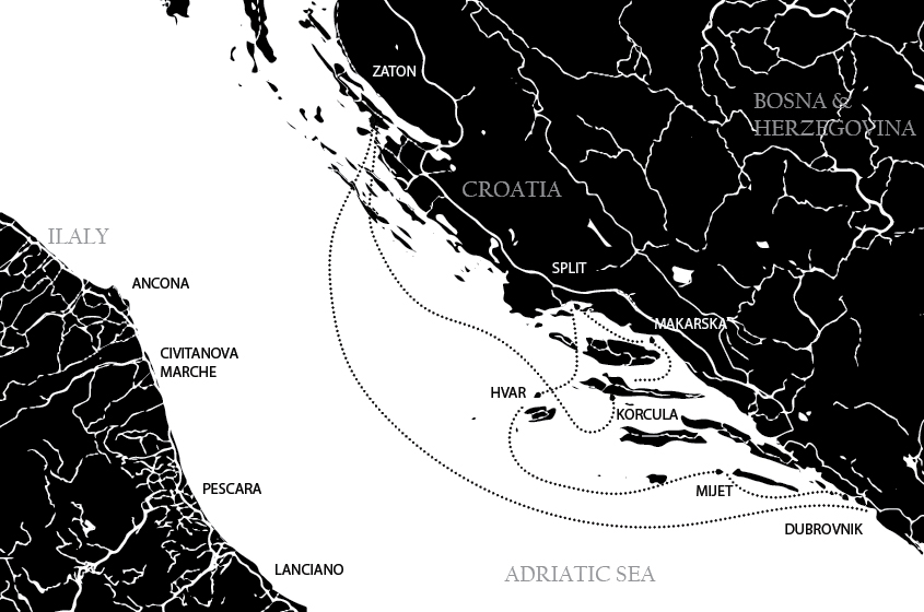 Ganymede-Yachting-North-Adriatic-Map